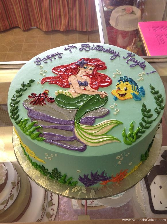1537, 4th birthday, fourth birthday, ariel, fish, little mermaid, sebastian, flounder, water, ocean, sea, blue, red, green, purple