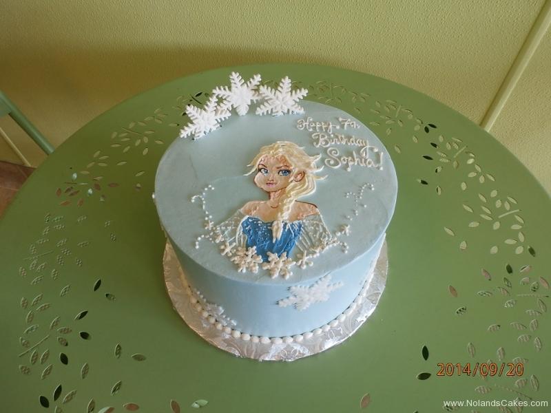 1664, 7th birthday, seventh birthday, elsa, frozen, disney, princess, snow, snowflake, snowflakes, blue, white