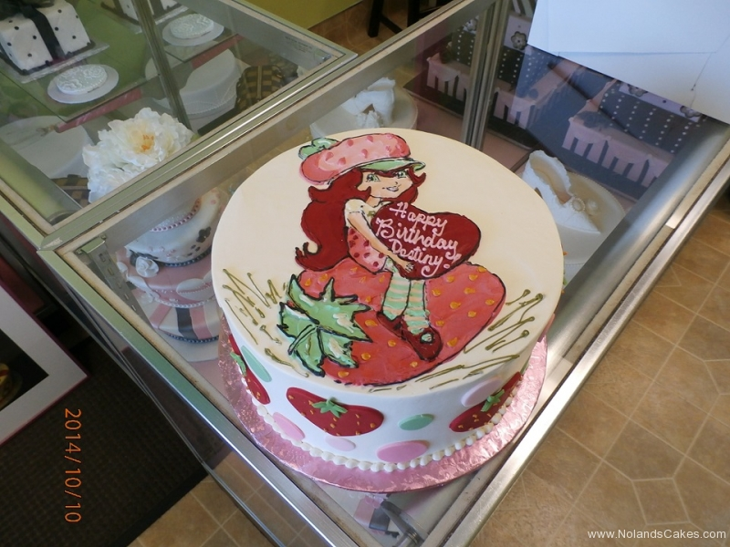 1685, birthday, strawberry shortcake, white, pink, red, berry berries