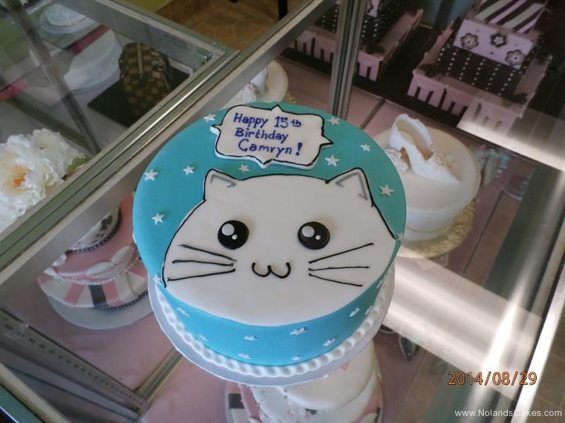 1598, 15th birthday, fifteenth birthday, cat, soon, white, blue, star, stars