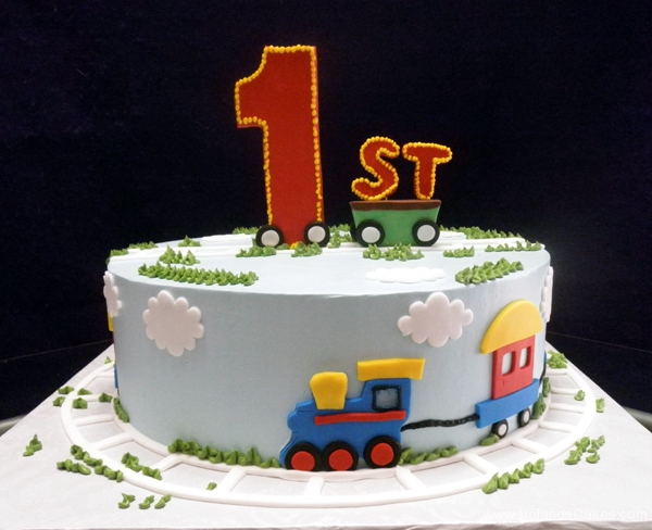 1712, 1st birthday, first birthday, train, clouds, sky, grass, blue, red, yellow