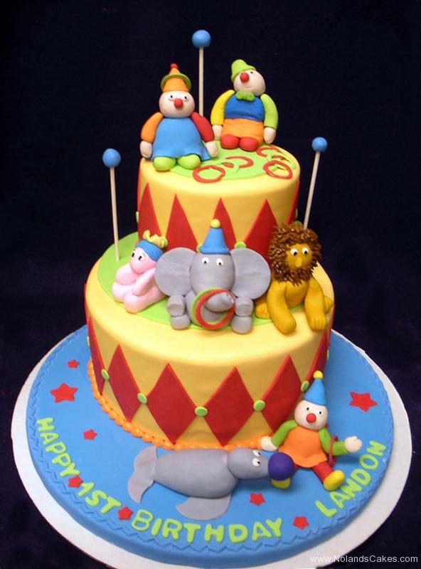 1734, first birthday, 1st birthday, circus, animal, animals, lion, elephant, seal, clown, clowns, diamonds, star, stars, ring, bright, primary, red, yellow, blue
