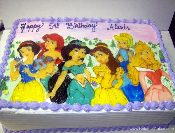 1830, fifth birthday, 5th birthday, disney, princess, princesses, snow white, ariel, jasmine, belle, cinderella, aurora, sleeping beauty, pink, purple, yellow