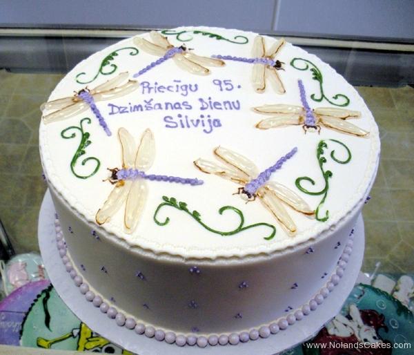 1847, 95th birthday, ninety fifth birthday, latvian, dragonfly, white, green, purple