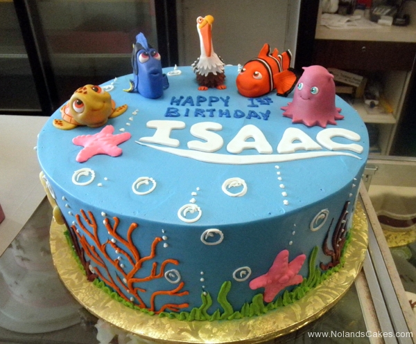 1907, first birthday, 1st birthday, finding nemo, squirt, crush, dory, nigel, nemo, marlin, pearl, peach, underwater, ocean, water, sea, blue