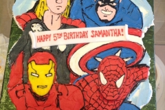 179, 5th birthday, fifth birthday, birthday, avengers, marvel, ironman, spiderman, captain america, thor, superheros, superhero, cupcakes
