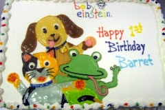 184, baby einstein, 1st birthday, first birthday, dog, cat, frog