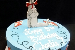 1857, 5th birthday, fifth birthday, dr seusse, seuss, cat in the hat, kite, kites, blue, red