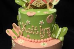 1946, birthday, butterfly, butterflies, flower, flowers, dot, dots, gymnastics , green, pink, tiered