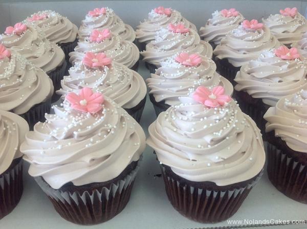 541, white, pink, flower, simple, silver, sprinkles