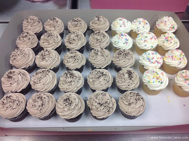 672, oreo, cupcakes, white, brown, sprinkles
