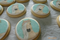 3244, cookies, round, horse, edible image, flower, flowers