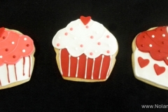 2686, cupcake, cupcakes, cake, red, white, pink, hearts, valentines day, love, dots
