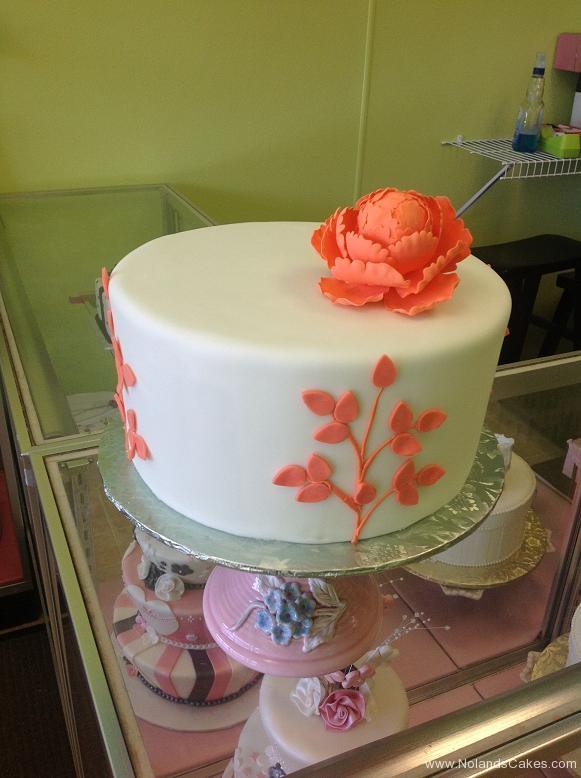 761, white, orange, peach, coral, flower, simple, tree, leaves