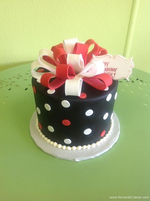 944, black, white, polka dots, dots, ribbon, bow, red