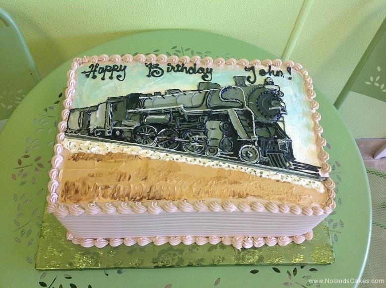 816, train, black, tan, white, blue, steam engine
