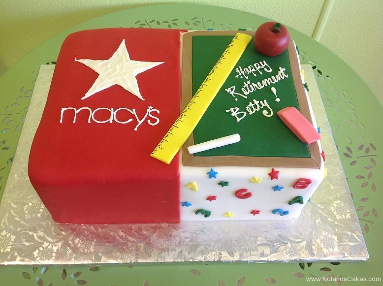 898, macy's, square, star, red, shopping, store, split cake, teacher, ruler, black board, chalk board, eraser, school, apple, red, green, white, colorful, yellow, pink