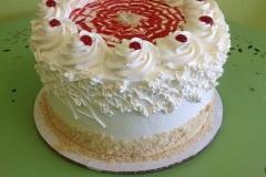 805, red, white, spirals, cherries, piping, spider web