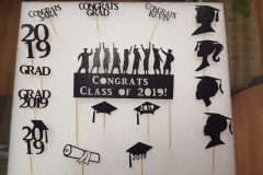 3055, Grad Toppers, cake, cupcake, topper
