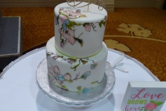 3405, wedding, flower, flowers, handpainted, tiered