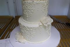 3419, wedding, white, flowers, flower, tiered