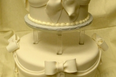 17, ribbons, bow, ribbon, bows, white, tiered, stacked, layered,  two tiered